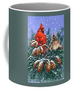 Christmas Cardinals #1 Coffee Mug