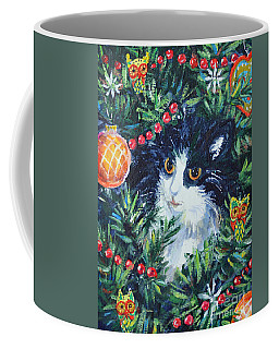 Christmas Catouflage Coffee Mug by Li Newton