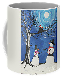 Christmas Cats In Love Coffee Mug by Jeffrey Koss