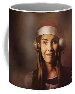 Coffee Mug featuring the photograph Christmas Disco Dj Woman by Jorgo Photography - Wall Art Gallery