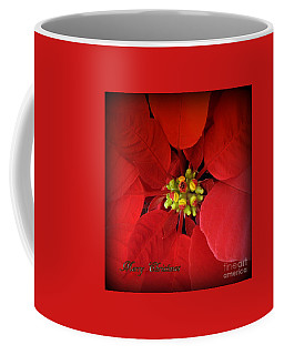 Coffee Mug featuring the photograph Christmas Flower Holiday Greeting Card by Ella Kaye Dickey