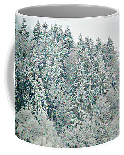 Coffee Mug featuring the photograph Christmas Forest - Winter In Switzerland by Susanne Van Hulst