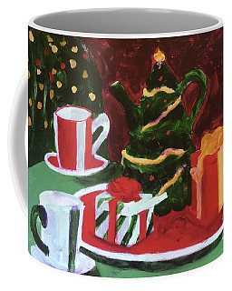 Coffee Mug featuring the painting Christmas Holiday by Donald J Ryker III
