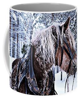 Christmas Horse Coffee Mug by Tamara Sushko