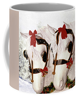 Coffee Mug featuring the painting  Snowflake And Holly by Valerie Anne Kelly