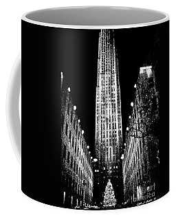 Christmas In New York City Coffee Mug by Carol F Austin