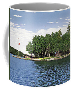 Coffee Mug featuring the painting Christmas Island Muskoka by Kenneth M Kirsch