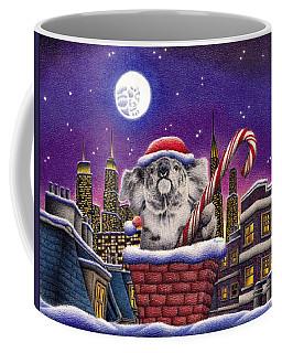 Christmas Koala In Chimney Coffee Mug