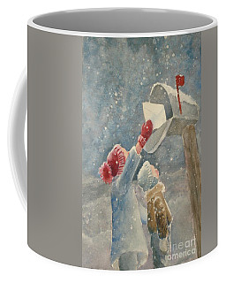 Christmas Letter Coffee Mug by Marilyn Jacobson