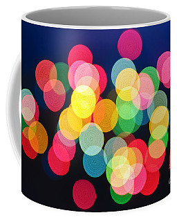 Christmas Lights Abstract Coffee Mug