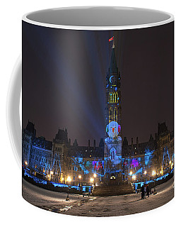 Coffee Mug featuring the photograph Christmas Lights Across Canada.. by Nina Stavlund