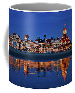 Christmas Lights At The Hotel Del Coronado Coffee Mug