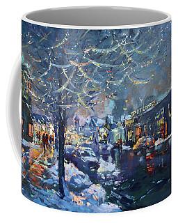 Christmas Lights In Elmwood Ave  Coffee Mug