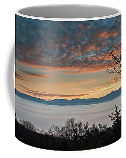 Coffee Mug featuring the photograph Christmas Morning Sunrise 2016 by Lara Ellis