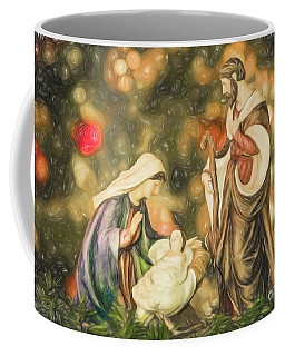 Christmas Nativity Pencil Drawing Coffee Mug