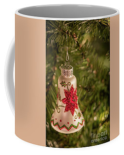 Christmas Ornament With Poinsettia Coffee Mug