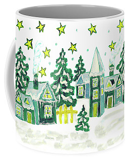 Christmas Picture In Green Coffee Mug by Irina Afonskaya