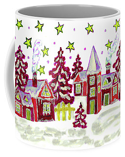 Christmas Picture In Red Coffee Mug by Irina Afonskaya