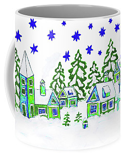 Christmas Picture, Painting Coffee Mug by Irina Afonskaya