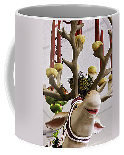 Coffee Mug featuring the photograph Christmas Reindeer Games by Betty Denise