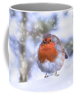 Coffee Mug featuring the photograph Christmas Robin by Scott Carruthers