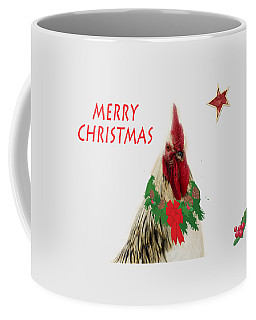 Coffee Mug featuring the photograph Christmas Rooster Tee-shirt by Donna Brown