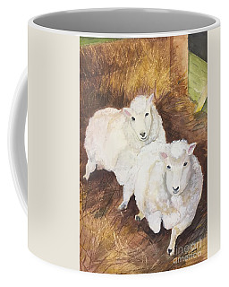 Coffee Mug featuring the painting Christmas Sheep by Lucia Grilletto