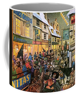 Christmas Shopping In Victorian Times Coffee Mug