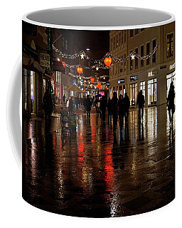 Coffee Mug featuring the photograph Christmas Shopping by Inge Riis McDonald