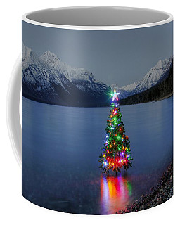 Christmas Spirit In Glacier Park Coffee Mug
