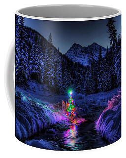 Christmas Spirit In Snowshoe Creek Coffee Mug