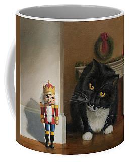 Coffee Mug featuring the painting Christmas Stalking by Joe Winkler