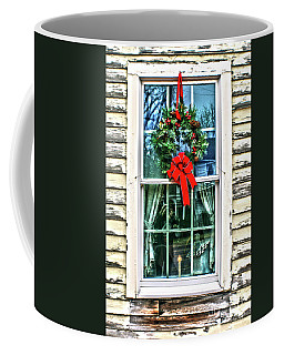 Coffee Mug featuring the photograph Christmas Window by Sandy Moulder