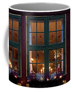 Coffee Mug featuring the photograph Christmas Windows - 365-276 by Inge Riis McDonald
