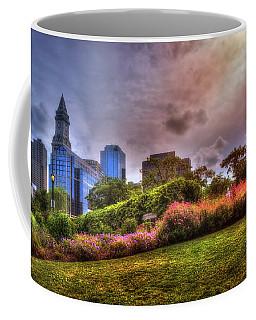 Coffee Mug featuring the photograph Christopher Columbus Park - North End Boston by Joann Vitali