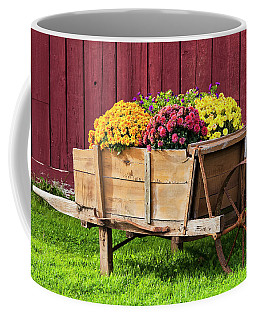 Chrysanthemum Cart Coffee Mug by Alan L Graham