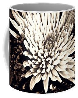 Coffee Mug featuring the photograph Chrysanthemum In Sepia 2  by Sarah Loft