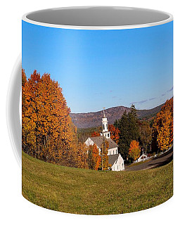 Church And Mountain Coffee Mug
