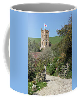 Church And The Flag Coffee Mug by Linda Prewer