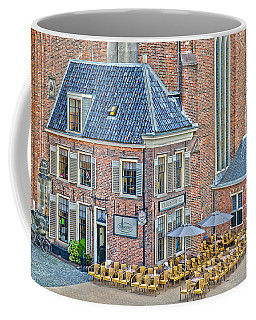 Coffee Mug featuring the photograph Church Cafe In Groningen by Frans Blok