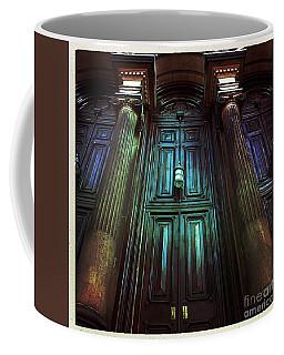 Church Door And Pillars Coffee Mug