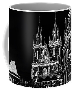 Coffee Mug featuring the photograph Church Of Our Lady Before Tyn. Night Prague by Jenny Rainbow