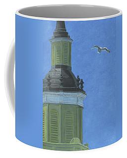 Church Steeple With Seagull Coffee Mug