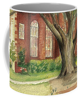 Coffee Mug featuring the painting Church Tree by Denise Fulmer