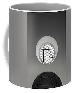Church Window In Black And White Coffee Mug