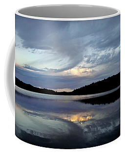 Coffee Mug featuring the photograph Churning Clouds At Sunrise by Chris Berry