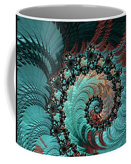 Churning Sea Fractal Coffee Mug