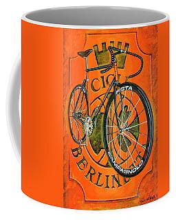 Coffee Mug featuring the painting Cicli Berlinetta by Mark Howard Jones