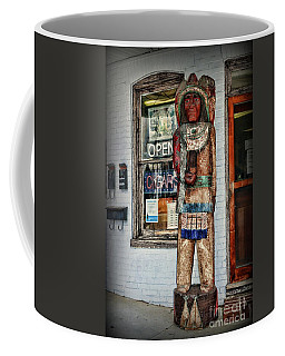 Coffee Mug featuring the photograph Cigar Store Indian by Paul Ward