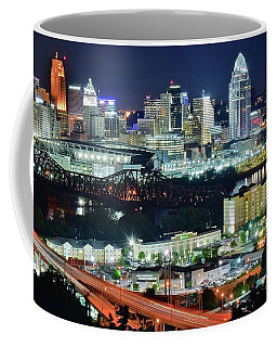 Cincinnati And Covington Collide Coffee Mug